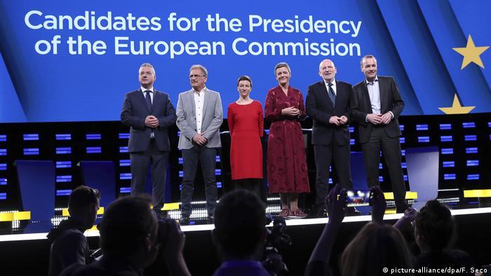 Belgien, Brüssel: Debatte der Spitzenkandidaten vor der Europawahl