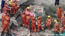 China Shanghai Gebäude Zusammenbruch