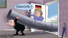 Karikatur von Sergey Elkin zu Russland und Nord Stream 2