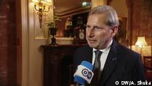 DW Exklusiv-Interview mit dem EU-Erweiterungskommissar Johannes Hahn
