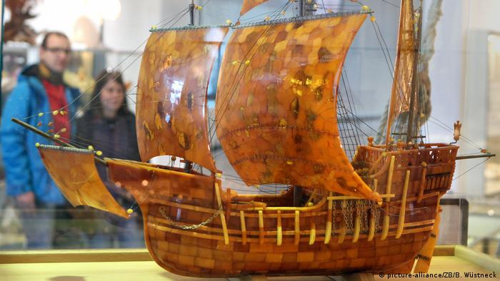 Ship made of amber