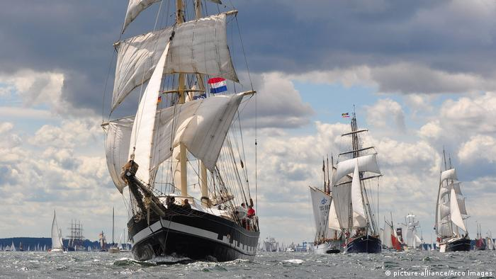 Windjammerparade bei der Kieler Woche