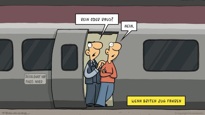 DW Euromaxx Comics von Fernandez Verstehen Sie Deutsch? Brexit