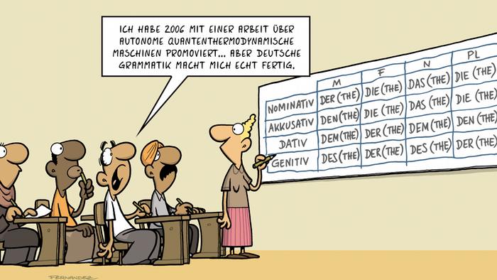 DW Euromaxx Comics von Fernandez Verstehen Sie Deutsch? Deutsche Grammatik