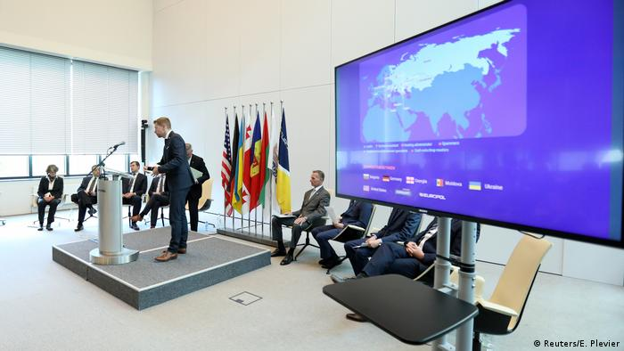 Europol press conference in The Hague about cybercrime