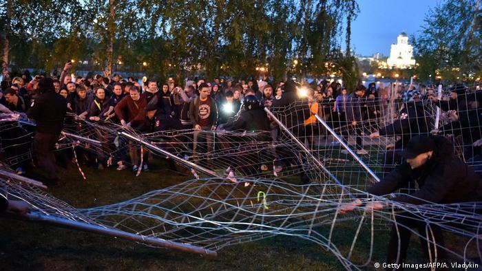 Russland Jekaterinburg - Proteste gegen geplantes Protest gegen Kirchenbau