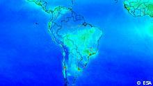 ESA Sentinel-5P Aufnahmen der Umweltverschmutzung über Südamerika