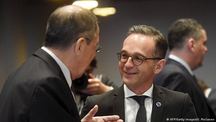 Europarat Außenministertreffen Finnland Sergej Lawrow Heiko Maas (AFP/Getty Images/V. Moilanen)