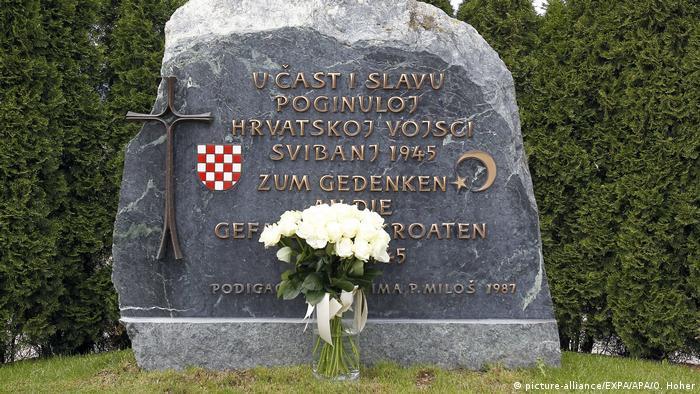 Spomenik ubijenoj hrvatskoj vojsci u Bleiburgu