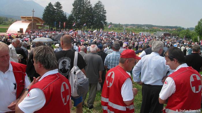 Österreich Bleiburg Gedenkfeier für nach dem Krieg gefallene Kroaten