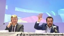 Rechte Allianz Matteo Salvini Jörg Meuthen (imago images/Independent Photo Agency Int.)
