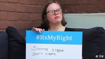 Gleichberechtigung von Menschen mit Behinderung: Natalie Dedreux (Aktivistin für Behindertenrechte, Köln)