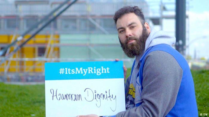 Menschenwürde: Dominik Bloh, ehemaliger Obdachloser, Hamburg, Buchautor