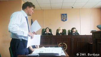 Адвокат Михальчевського Валентин Рибін на суді
