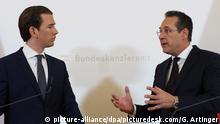Österreich Sebastian Kurz, Bundeskanzler & Heinz-Christian Strache, Vizekanzler