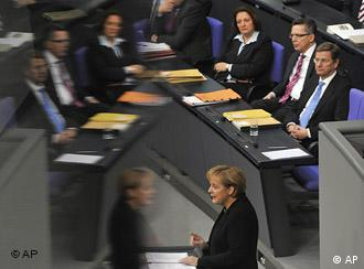 Merkel faced stiff opposition from within her own party over the cuts