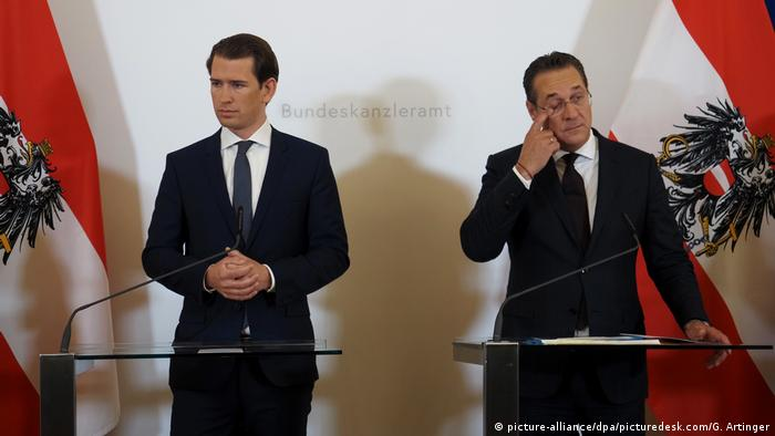 Austrian Chancellor Sebastian Kurz and Vice-Chancellor Heinz-Christian Strache (picture-alliance/dpa/picturedesk.com/G. Artinger)