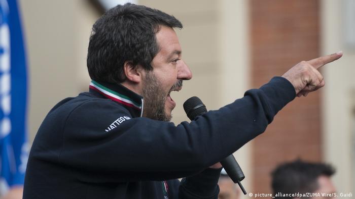 Former Italian Interior Minister Matteo Salvini (picture_alliance/dpa/ZUMA Wire/S. Guidi)