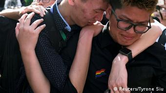 BdTD Taiwan Taipeh Schwule feiern Gesetz für gleichgeschlechtliche Ehen