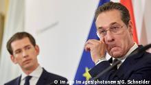 Österreich Wien Sebastian Kurz und Strache