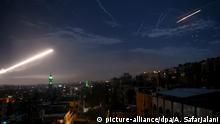 Syrien Damaskus Luftabwehrrakete