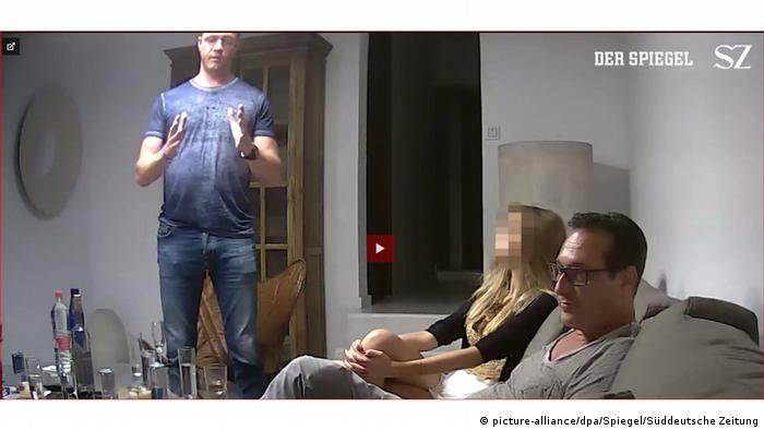 A video showing FPÖ leader Strache in Ibiza