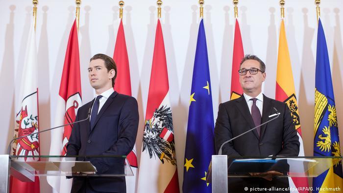Sebastian Kurz with Heinz-Christian Strache