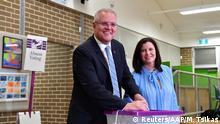Australien Parlamentswahlen Premier Scott Morrison