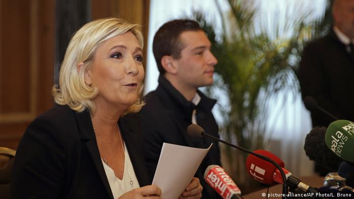 Marine Le Pen in Mailand