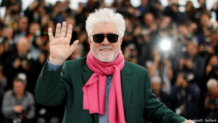 Pedro Almodovar poses at the Cannes Film Festival (Reuters/E. Gaillard)
