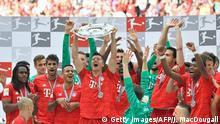 Bundesliga 34. Spieltag | FC Bayern München - Eintracht Frankfurt | Meisterschaftsfeier Bayern