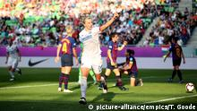 UEFA CL-Finale Frauen | Lyon v Barcelona | Torjubel Ada Hegerberg (picture-alliance/empics/T. Goode)