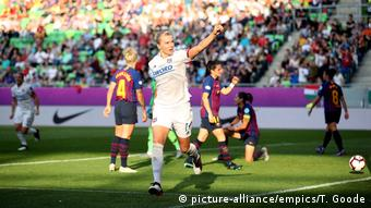 UEFA CL-Finale Frauen   Lyon v Barcelona   Torjubel Ada Hegerberg