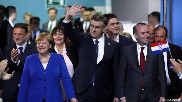 Kroatien Merkel in Zagreb