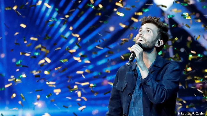 Дункан Лоренс на сцене Евровидения-2019 в Тель-Авиве