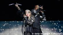 TEL AVIV, ISRAEL - MAY 18: Madonna and Quavo, perform live on stage after the 64th annual Eurovision Song Contest held at Tel Aviv Fairgrounds on May 18, 2019 in Tel Aviv, Israel. (Photo by Michael Campanella/Getty Images)