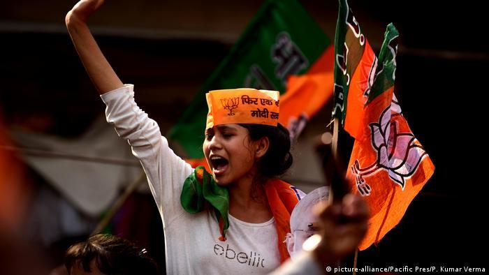Indien während der Wahl 2019 (picture-alliance/Pacific Pres/P. Kumar Verma)
