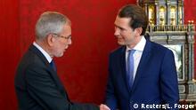 Österreich Wien Kanzler Kurz sucht Präsident Van der Bellen auf