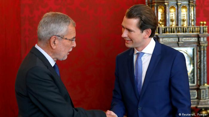Sebastian Kurz and President Alexander Van der Bellen