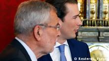 19.05.2019 +++ Austria's Chancellor Sebastian Kurz meets Austrian President Alexander Van der Bellen, in Vienna, Austria, May 19, 2019. REUTERS/Leonhard Foeger
