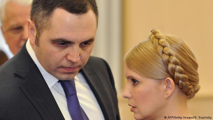 Андрій Портнов разом з колишнєю соратницею Юлією Тимошенко, лютий 2010 року