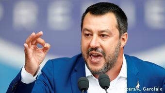 Italien Kundgebung von neuer Rechts-Allianz in Mailand | Matteo Salvini (Reuters/A. Garofalo)