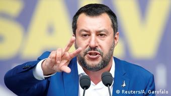 Matteo Salvini, leader of Italy's right-wing The League