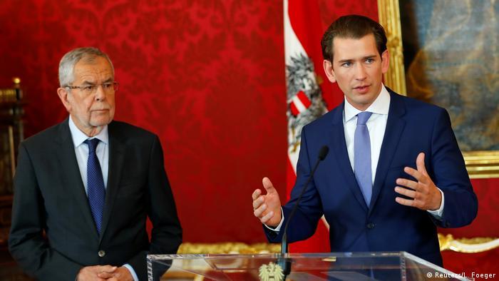 Österreich Wien PK Kanzler Kurz und Präsident Van der Bellen planen Neuwahlen (Reuters/L. Foeger)