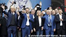Italien Mailand Treffen von Europas Rechtspopulisten