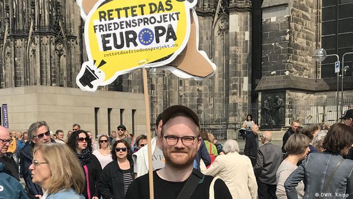 Deutschland Pro-Europa-Demo in Köln
