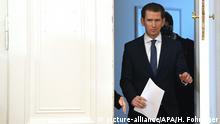 Österreich Wien Pressekonferenz Sebastian Kurz