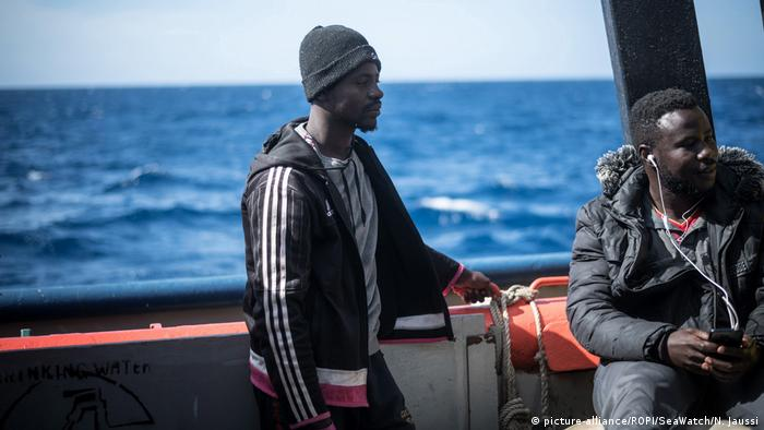 Migrants rescued by Sea-Watch 3 vessel