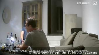Ханс-Кристиан Штрахе на вилле на Ибице. Скриншот скрытой видеосъемки.