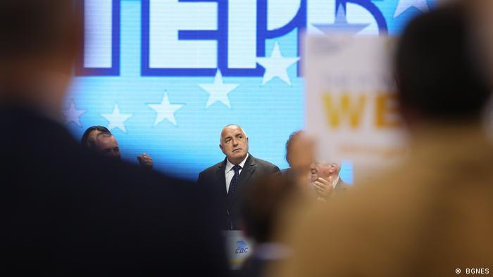 Bulgarien Wahlkampf von Premierminister Bojko Borissow